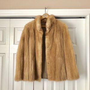 Antique Mink Fur Coat.